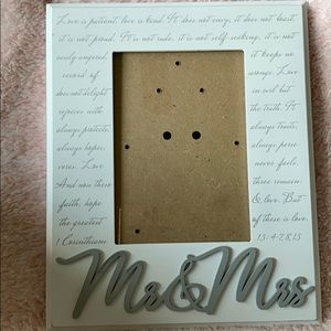 Mr. and Mrs. photo frame 5 x 7